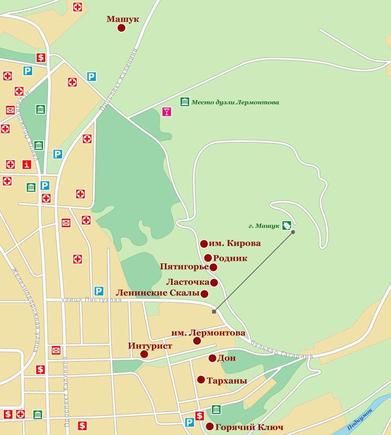 Карта Пятигорска (весь город)